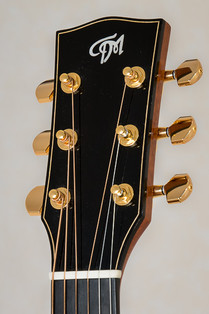 Ebony headplate on OM acoustic guitar