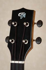 Ebony headplate in tenor ukulele