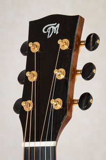 Ebony headplate on OM acoustic guitar