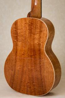 Tenor ukulele with curly koa body