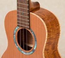 Abalone rosette of tenor ukulele