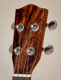 Curly koa headplate of tenor ukulele