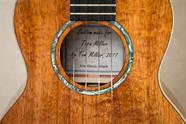 Tenor ukulele with abalone rosette