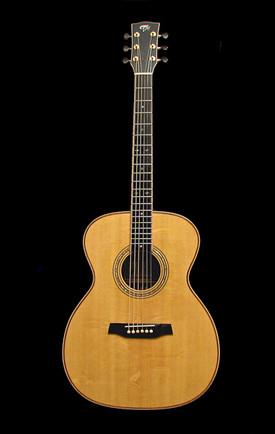 Koa and bearclaw Sitka spruce OM guitar