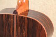 Ziricote guitar with curly koa binding