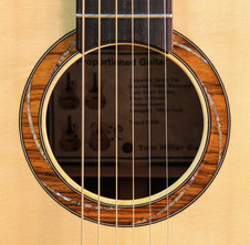 Brazilian Rosewood rosette with spiral abalone