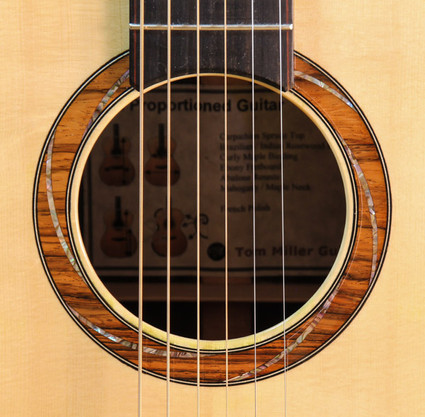 Brazilian rosewood with abalone spiral
