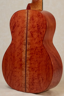 Rose Gum back and sides with bloodwood binding