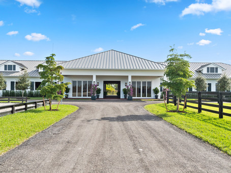 New construction horse barn in Wellington,FL