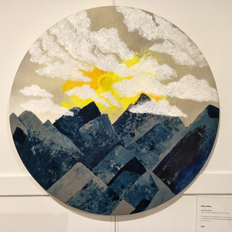 Bailey Jeffrey  Solid Mountains 50cm Mixed media on Canvas  $250