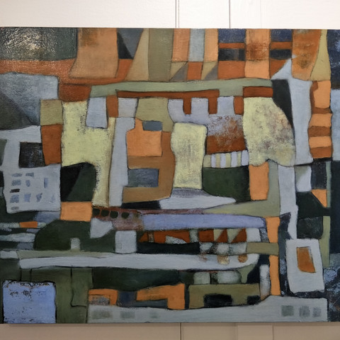 Mary-Lin Litchfield  Travelling with Line 50x40cm Oil on wood panel  $720