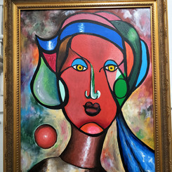 Elizabeth Taylor  Mistress of all she surveys Acrylic on Canvas  $550
