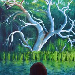Samuel Hardidge  Acceptance 76x101cm Acrylic & Oil on canvas  $2500