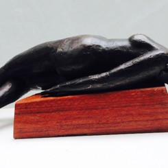 Ross Miller  Fallen Woman 16x57x16cm Bronze on Red Gum Base  $2700