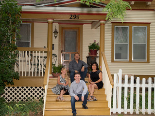 While maintaining Social Distancing have your family portrait taken!  The #FrontPorchProject was sta