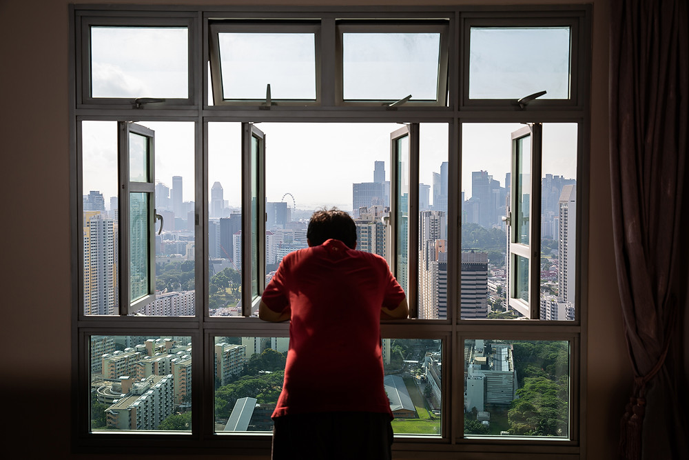 View from the living room window of a City Vue @ Henderson HDB flat. Photo: Nuria Ling/TODAY