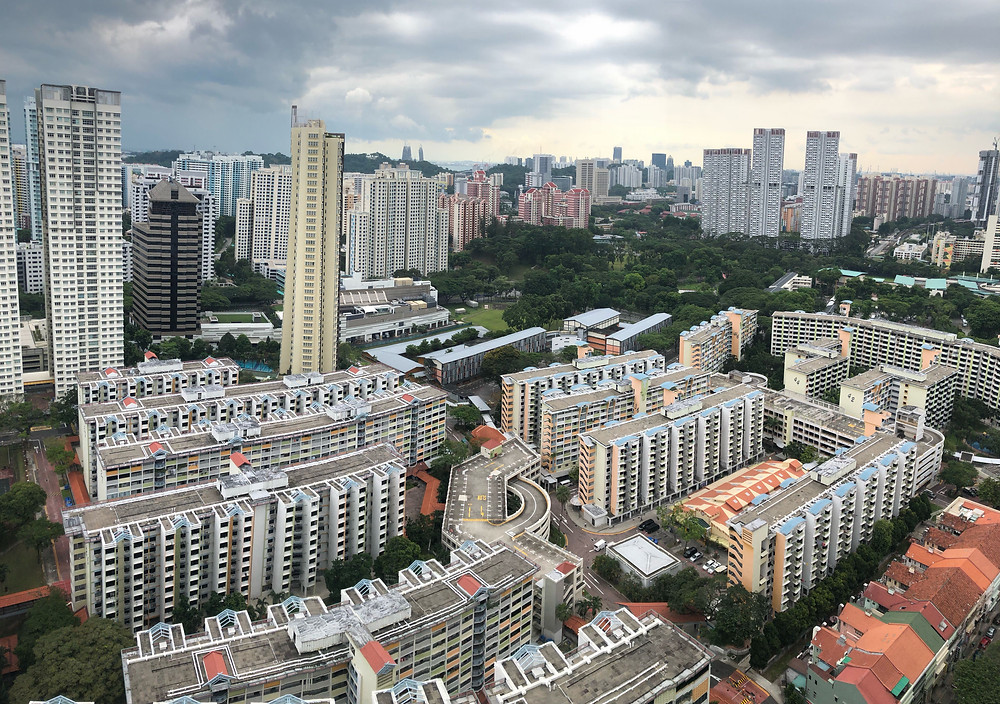 View of Boon Tiong Road's 40-storey flats from the living room window of a HDB flat at Havelock Road. Photo: Wong Pei Ting/TODAY