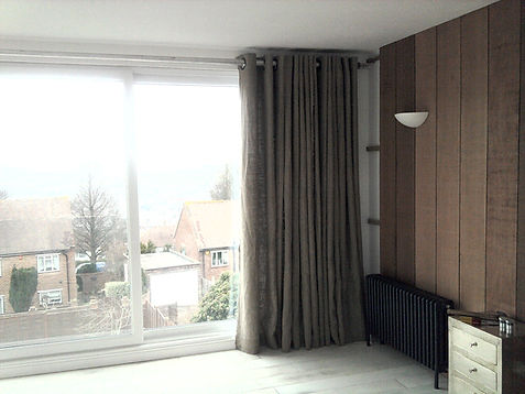 Rustic Linen curtains with eyelets Studi