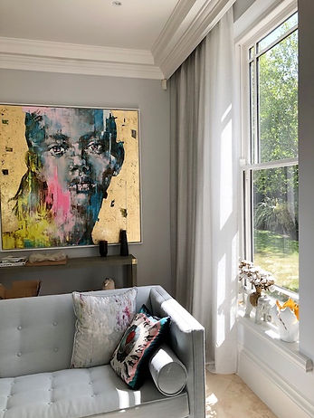 white off voile in living room Studio Lo