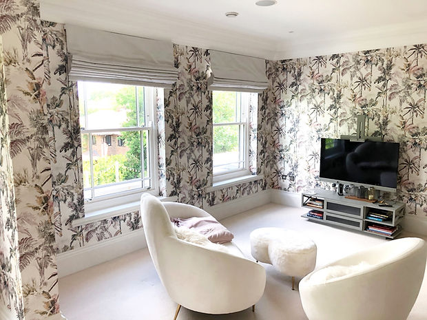 Roman blinds from mixed cotton , Studio