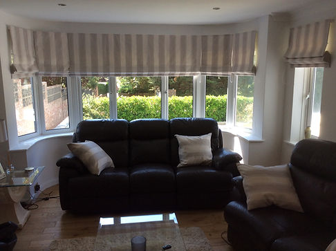 Roman Blinds for curved window Studio Lo