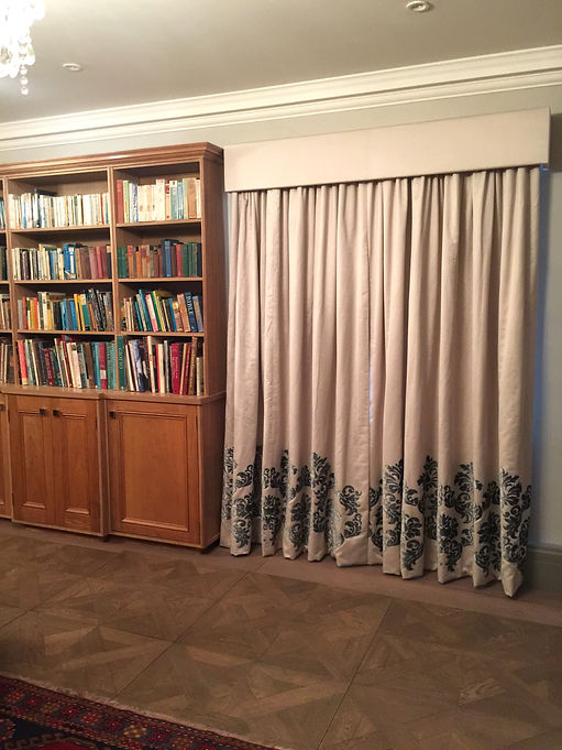 Silk curtains for library Studio Lora Ta