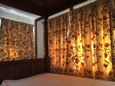 embroidered silk curtains Studio Lora Ta