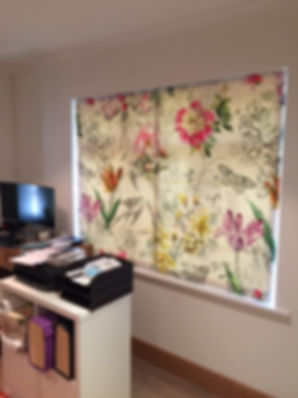 Roman blind from Designers's Guild print