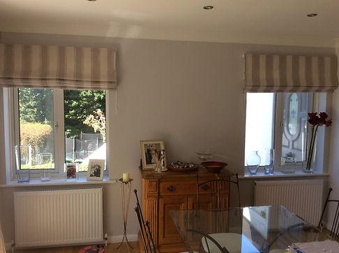 Roman blinds for dinning area Studio Lor