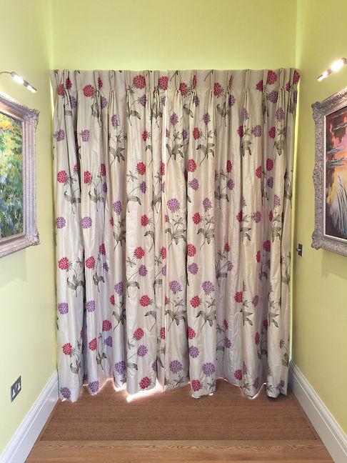 silk curtains Studio Lora Tarbet
