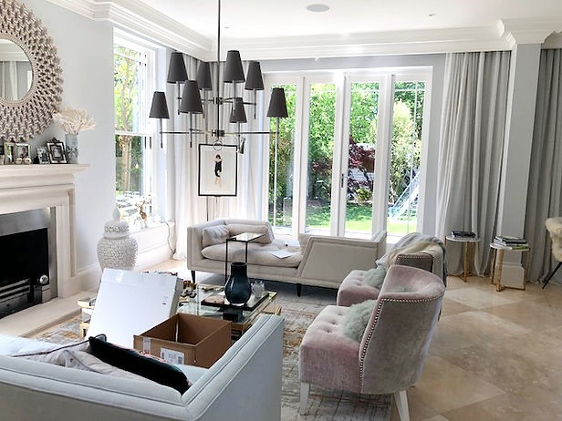 living room , voile curtains, made by St