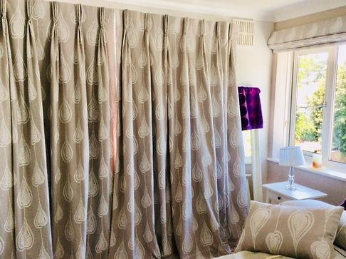 cotton curtains Studio Lora Tarbet