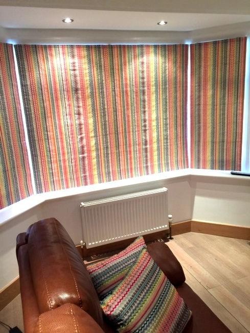 Embroidered cotton Roman blinds Studio L