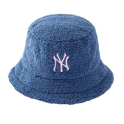 NY FUR BUCKET HAT (BLUE)