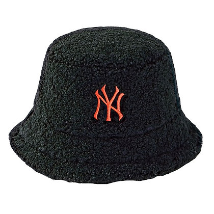 NY FUR BUCKET HAT (BLACK)