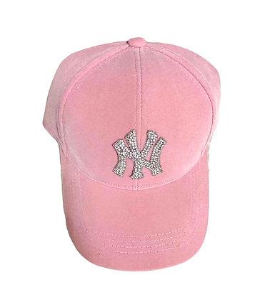 VELVET BLING NY HAT (PINK)