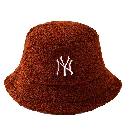 NY FUR BUCKET HAT (BROWN)