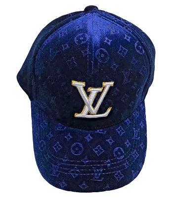 LV VELVET HAT (BLUE)