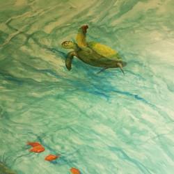 part of an underwater mural