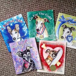 Greyhound Love Illustrations.