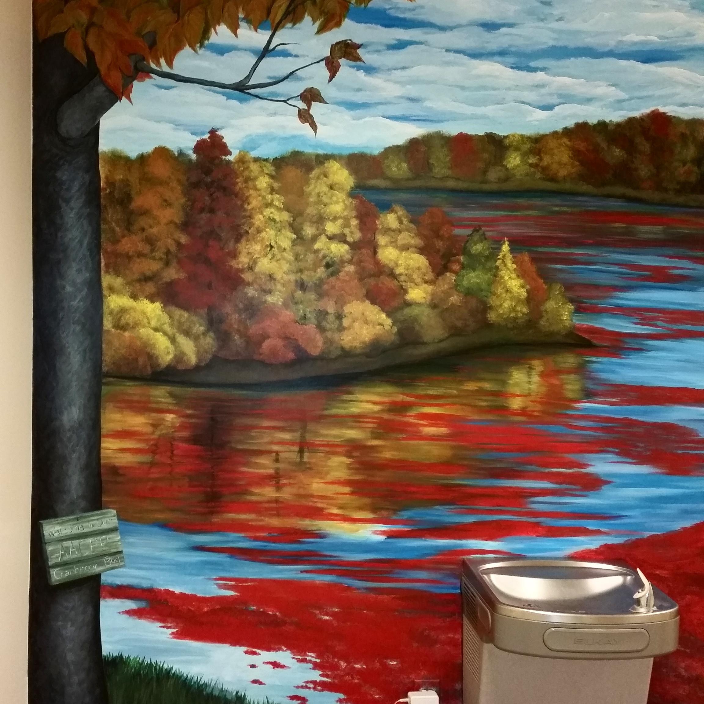 mural of a cranberry bog
