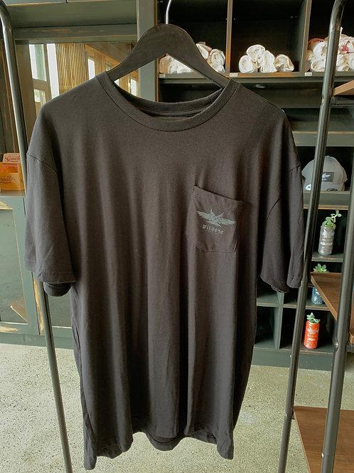 Unisex Black Pocket T-shirt