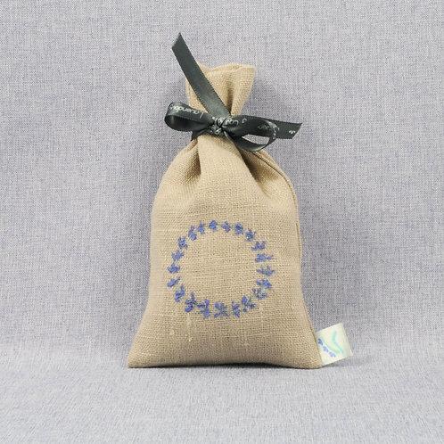 Ręcznie malowany woreczek zapachowy (lniany, naturalny)