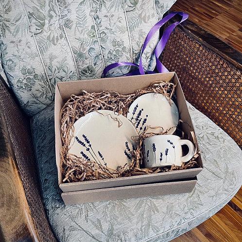 Zestaw ceramiczny w opakowaniu ozdobnym (na prezent)