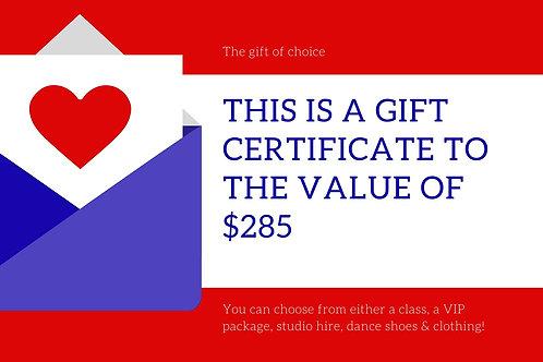 $285 Gift Voucher