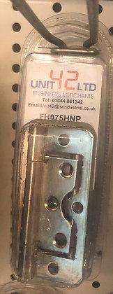 FH075HNP Flush hinge 75mm (3inch) 1pr nickel plated