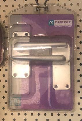 SAA22/BP Lever latch furniture 102 x 41 satin aluminium