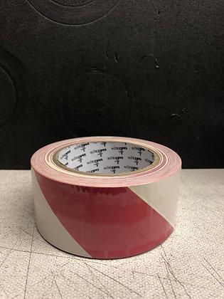 Red & White Hazard Tape 50mm 33 metre