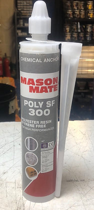 Mason Mate Polyester Resin C/W with 1 Nozzle In 300ml Tube. Fits Normal Skeleton