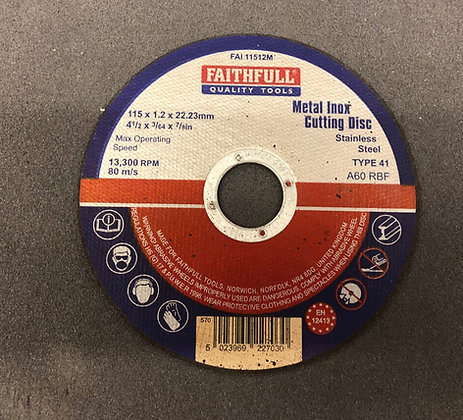 "Cutting Disc Metal 4.5"""